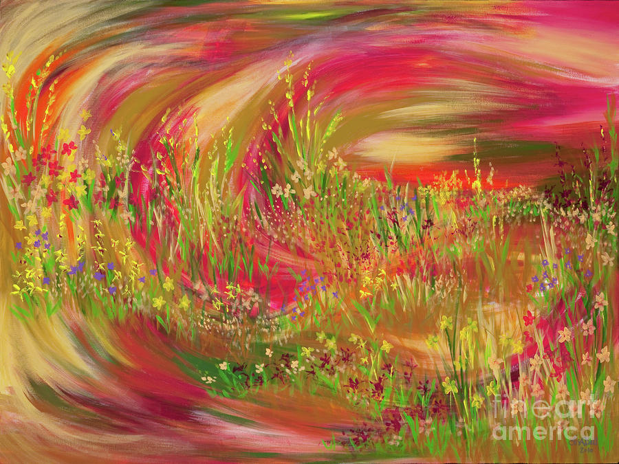 Landscape Painting - Joy by Lisa Bell
