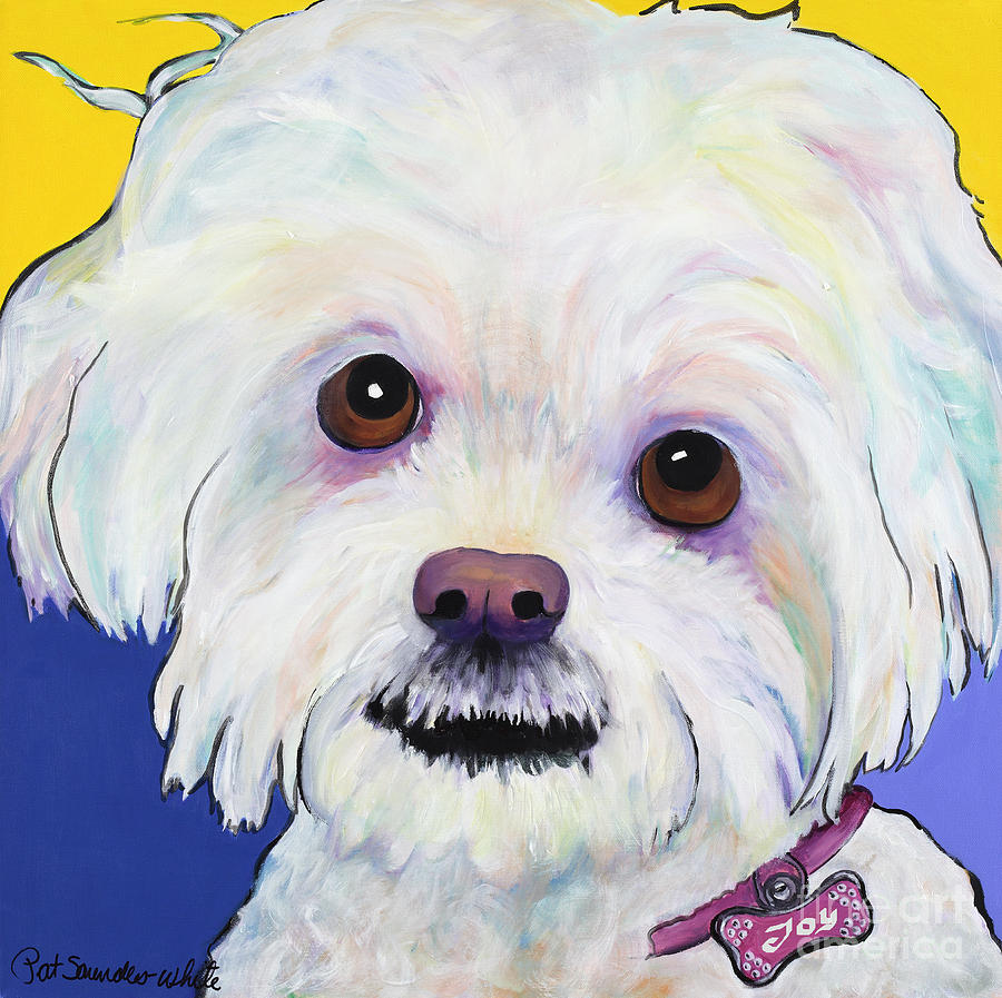 Llasa Apso Painting - Joy by Pat Saunders-White
