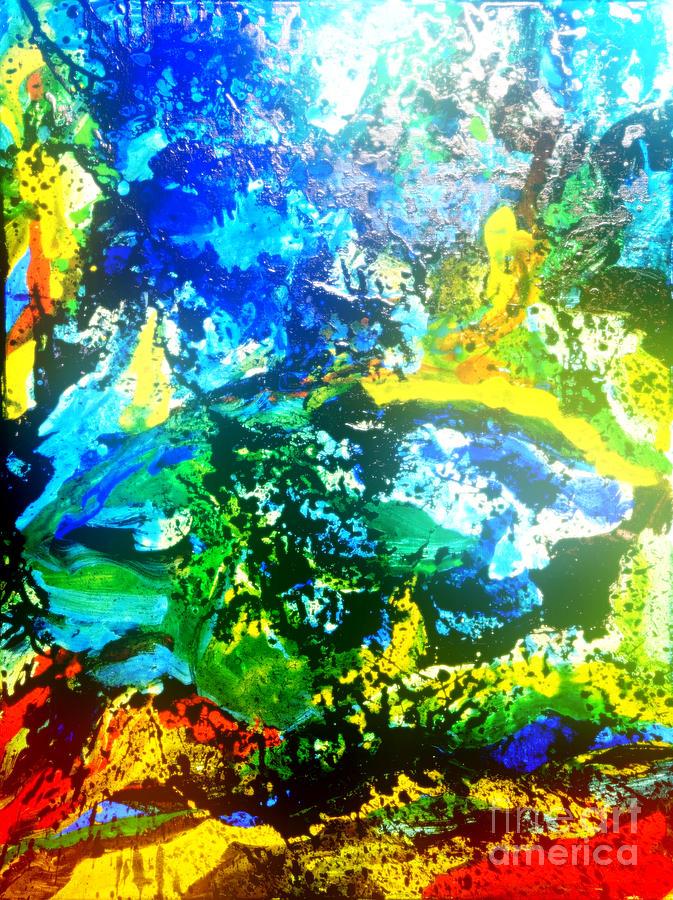 Blue Mixed Media - Joy by Pauli Hyvonen
