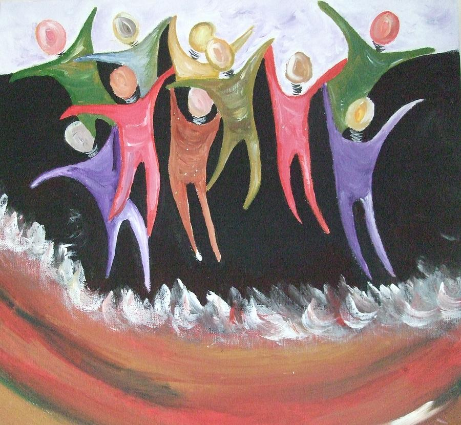 Joy Painting - Joy Unspeakable by Freda Lade-Ajumobi