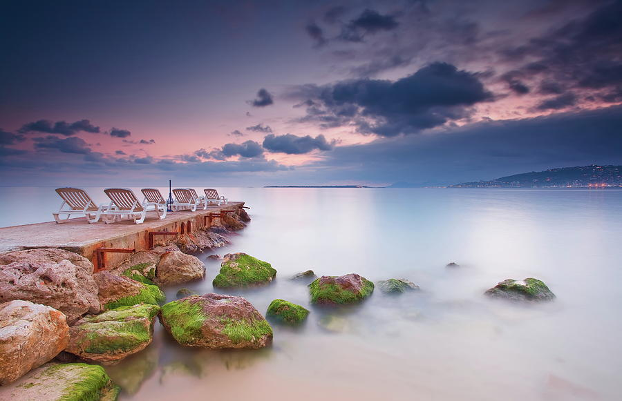 Horizontal Photograph - Juan Les Pins, French Riviera by Eric Rousset