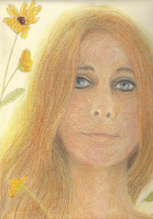 Judy Collins Pastel - Judy Blue Eyes by Jami Cirotti
