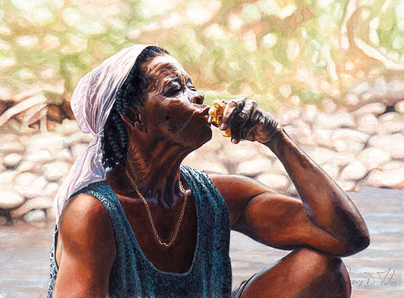 Lady Painting - Juicy Fruit by Gregory Jules