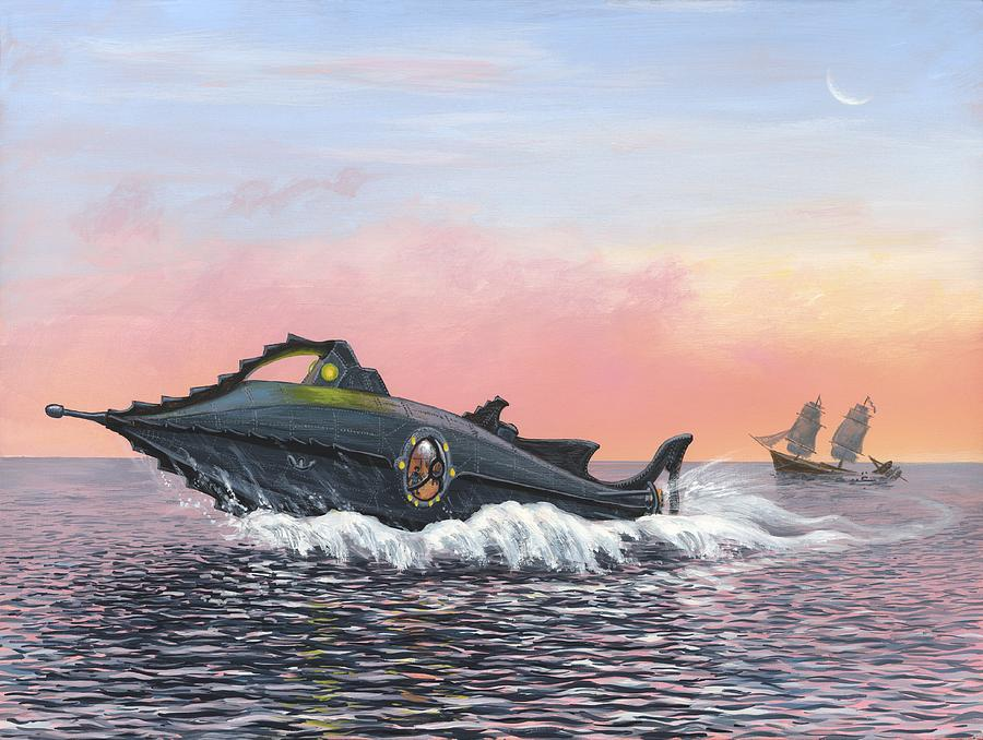 Jules Vernes Nautilus Submarine Artwork Photograph By