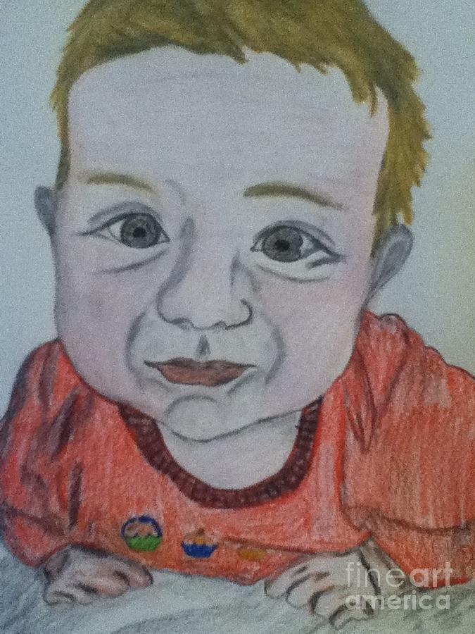 Child Drawing - Julia by Berta Barocio-Sullivan