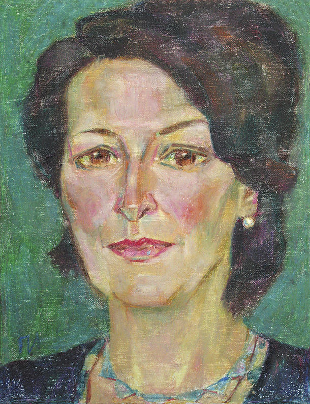 Oil Painting - Julia Resnick by Leonid Petrushin