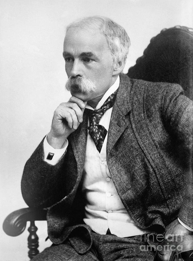 19th Century Photograph - Julian Hawthorne (1846-1934) by Granger