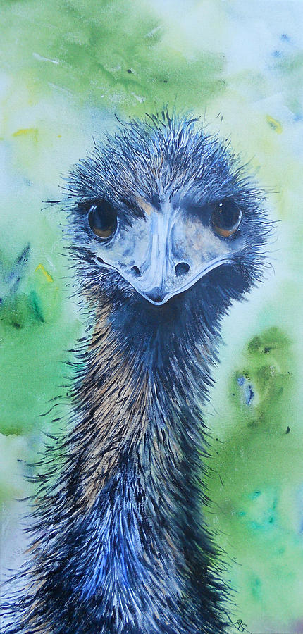 Emu Painting - Juls Emu by Carol McLagan
