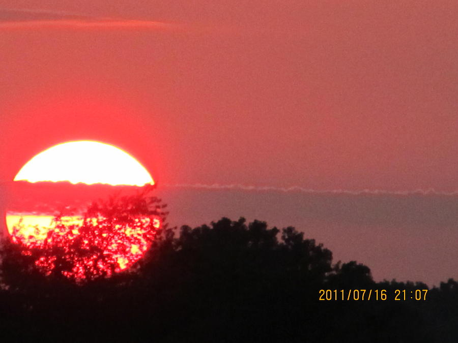 Sunset Photograph - July 16 Sunset Three by Tina M Wenger