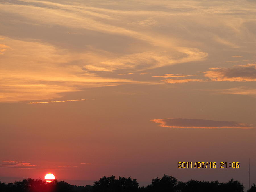 Suns Photograph - July 16 Sunset Two by Tina M Wenger