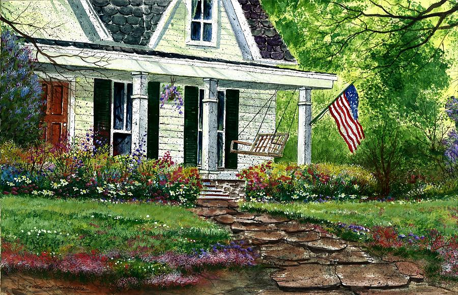 House Painting - July 4th by Steven W Schultz