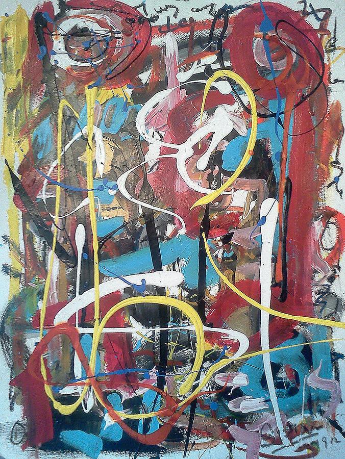 Brown Painting - July 9 2012-1 by Gustavo Ramirez
