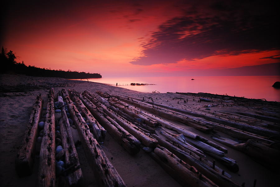 Pictured Rocks National Lakeshore Photograph - July Fourth Eighteen Eighty Three Shipwreck by Mike Thompson