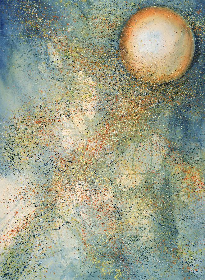 Thunder Painting - July Full Thunder Moon by Robin Samiljan