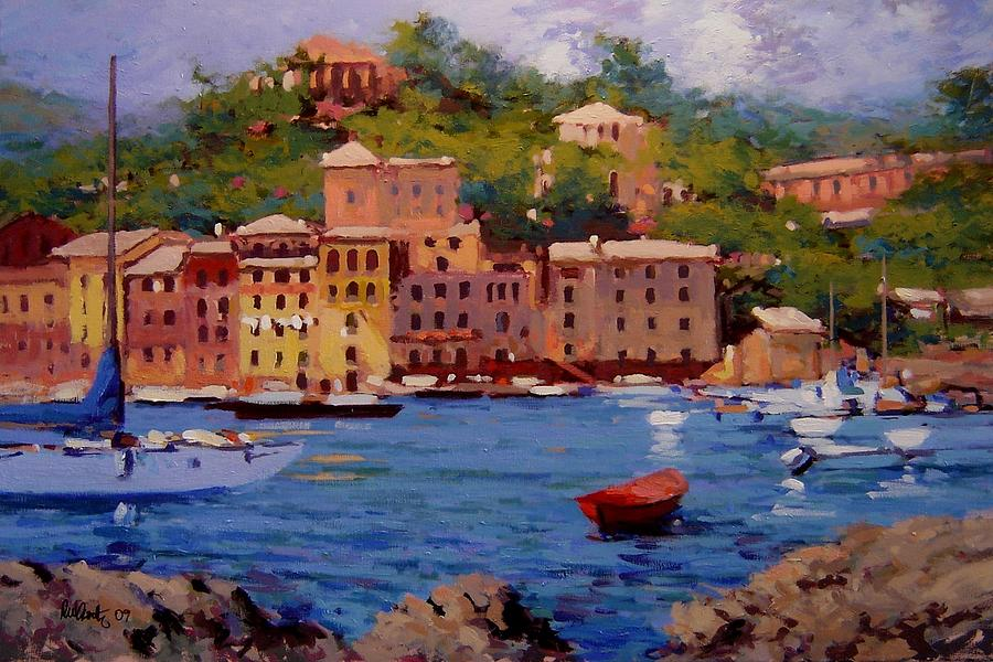 Portofino Painting - July In Portofino by R W Goetting