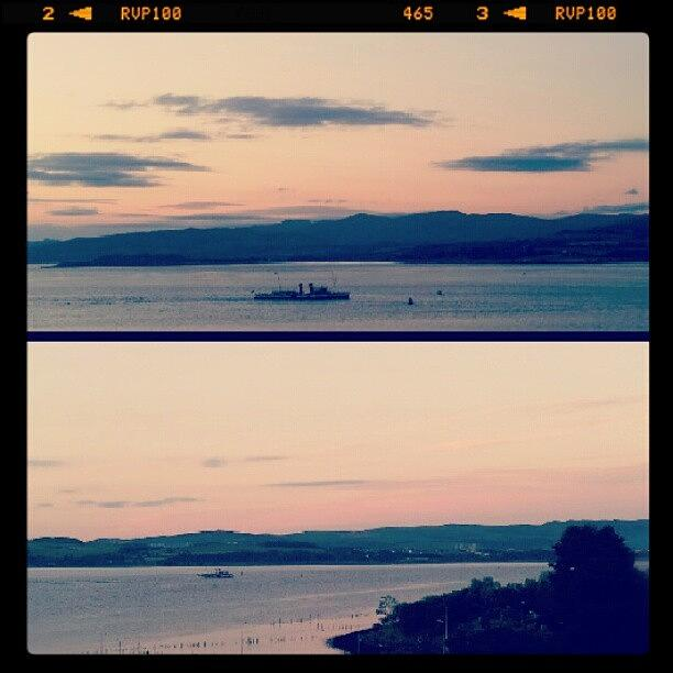 Port Photograph - #july #sunset #port #river #inverclyde by Gary West