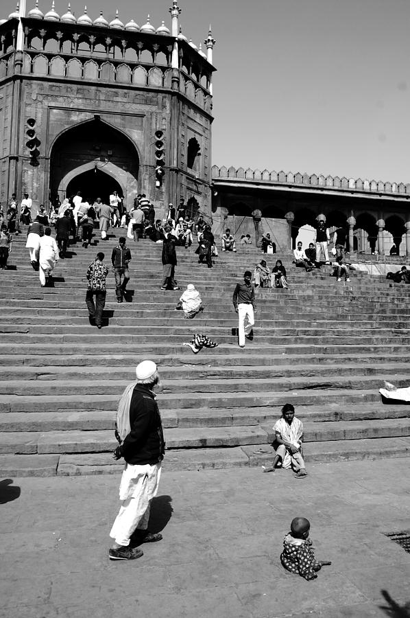 Old Delhi Photograph - Juma Masjid by Abhilash G Nath