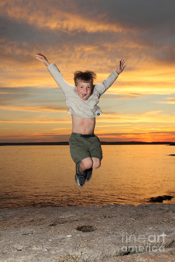 Coast Photograph - Jumping For Joy by Ted Kinsman