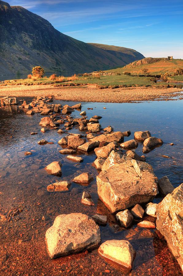 Bay Photograph - Jumping Stones by Svetlana Sewell