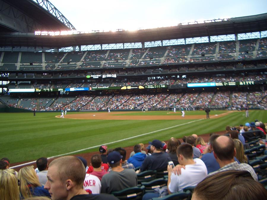Baseball Photograph - June Seattle Game With Red Sox by Erin Stepanek