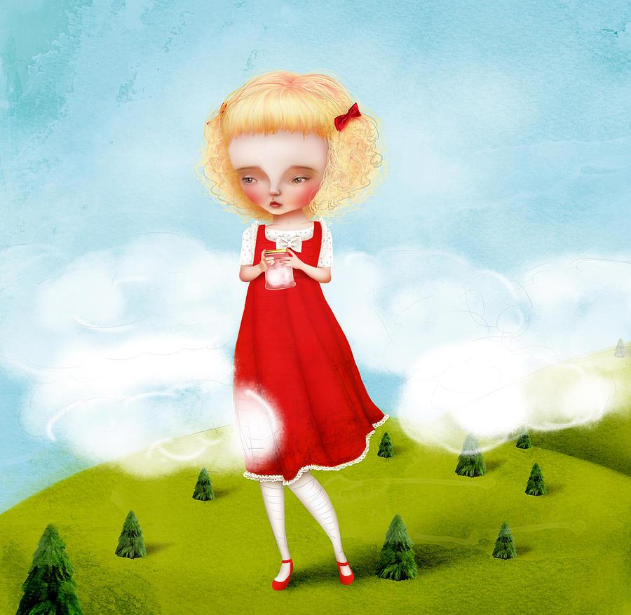 Little Girl Digital Art - Juneau by Jessica Von Braun