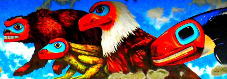 Juneau Photograph - Juneau Mural 2 by Randall Weidner
