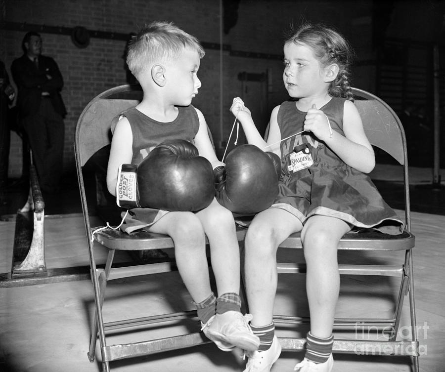 1939 Photograph - Junior Boxer, 1939 by Granger