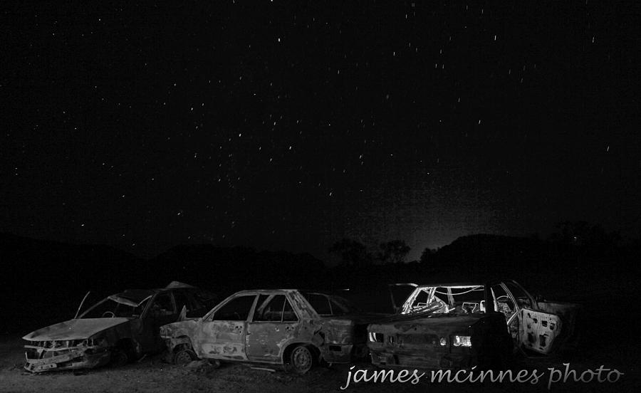 Canopy Of Stars Photograph - Junk Yard by James Mcinnes