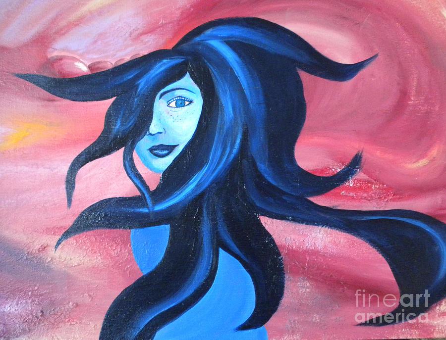 Girl Painting - Jupiter Girl by Silvie Kendall