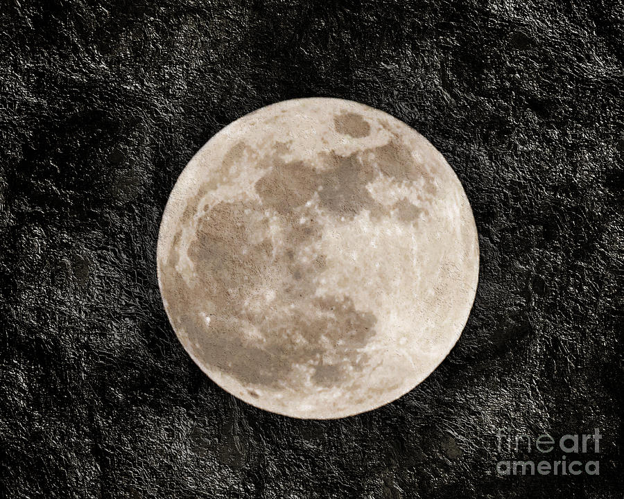 Super Moon Photograph - Just A Little Ole Super Moon by Andee Design