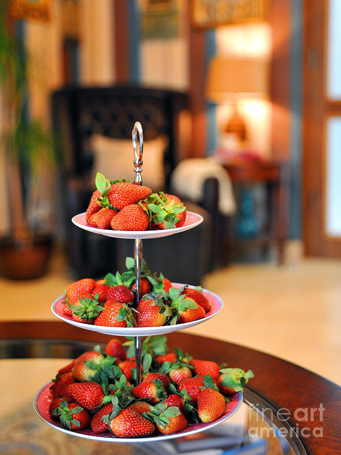 Strawberries Photograph - Just Add Cream by Graham Taylor