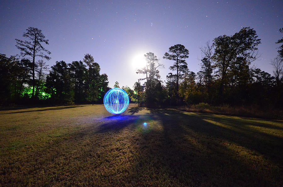 Night Photograph - Just Having Fun by David Morefield