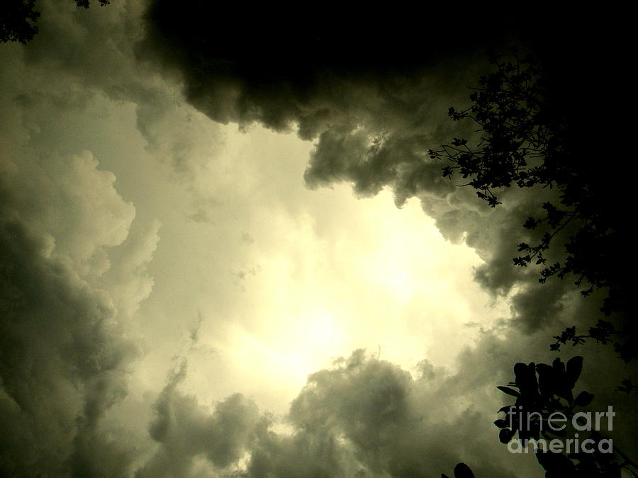Storms Photograph - Just Look Up by Kimberly Dawn Hendley