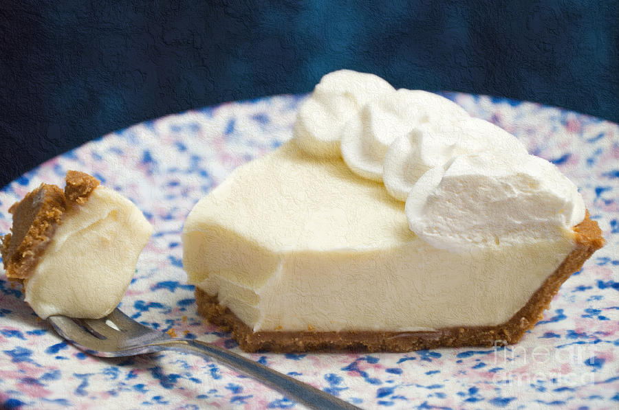 Key Lime Pie Photograph - Just One Bite Of Key Lime Pie by Andee Design