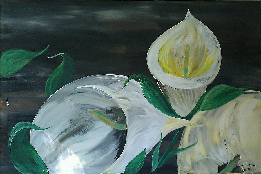 Lily Painting - Just Romance  by Mark Moore