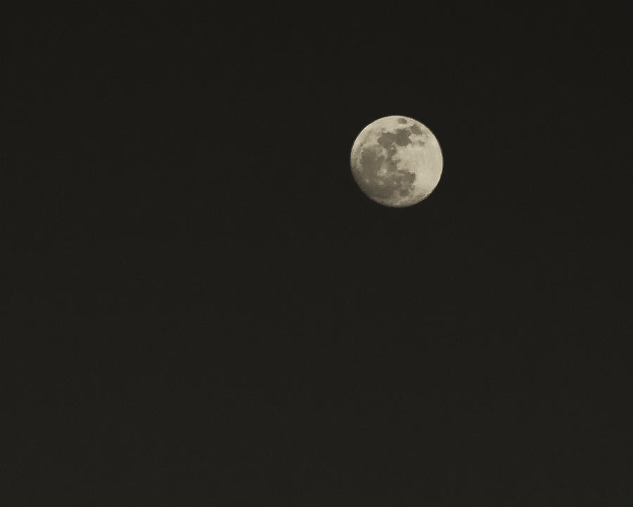 Moon Photograph - Just The Moon by Roger Wedegis
