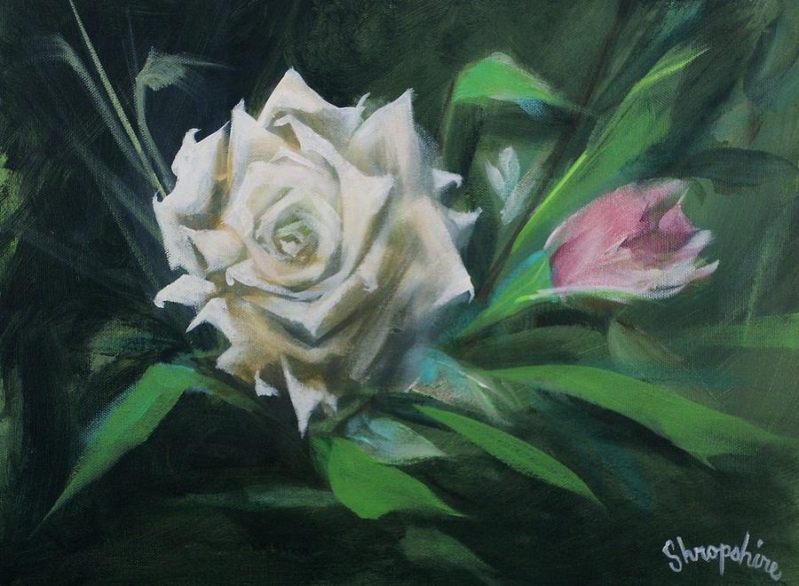 Floral Painting - Just The Two Of Us by Tom Shropshire