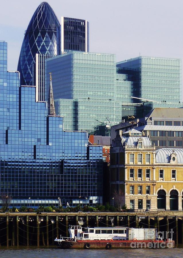 London Photograph - Juxtaposed by John Clark