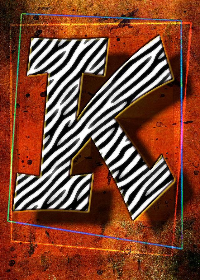 Framed Pyrography - K by Mauro Celotti
