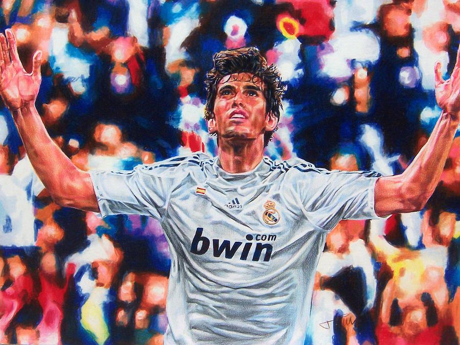 Real Madrid Drawing - Kaka by Janine Hoffman