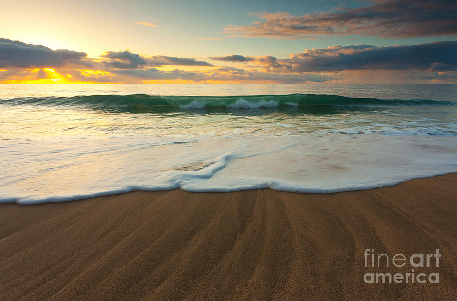 Beach Photograph - Kalalau Beach Sunset by Buck Forester