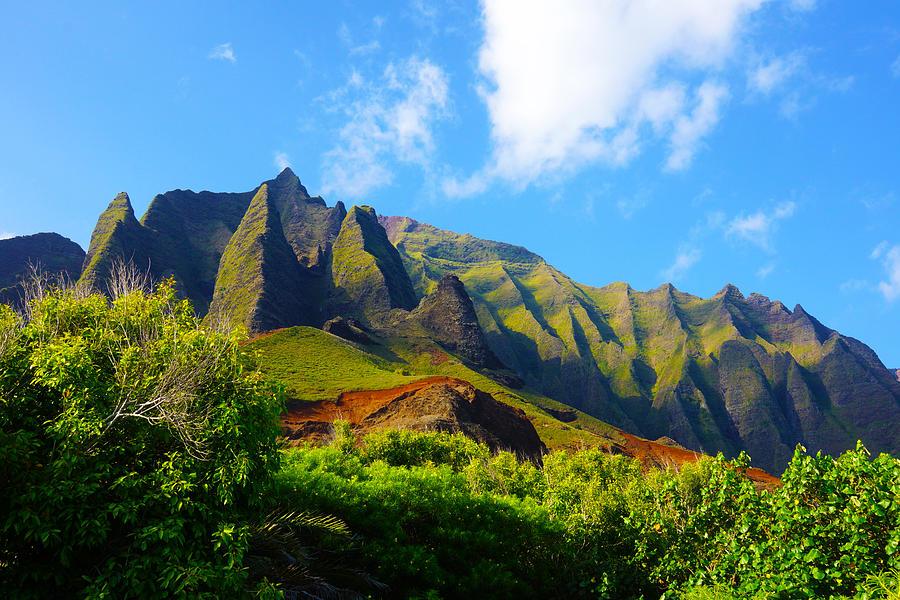 Kauai Photograph - Kalalau Mountains Morning Kauai by Kevin Smith