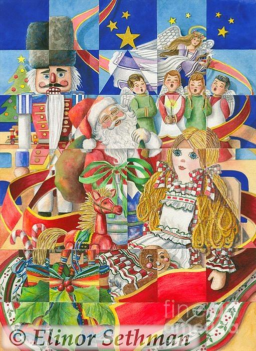 Christmas Painting - Kaleidoscope Of Christmas Past by Elinor Sethman