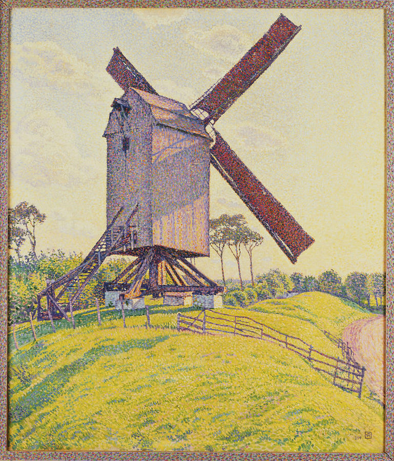 Windmill Painting - Kalf Mill by Theo van Rysselberghe