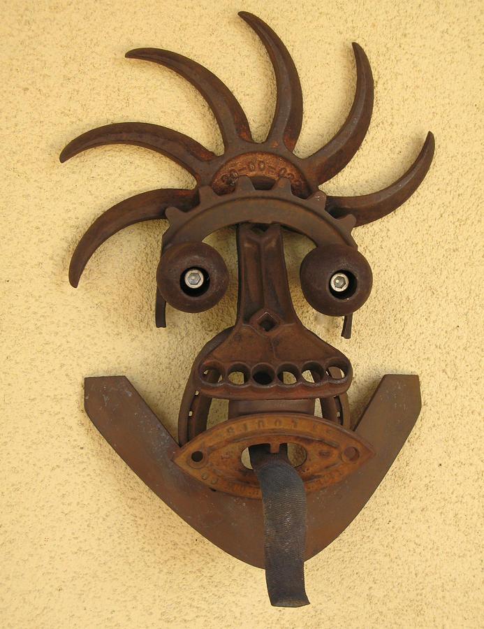 Kali Sculpture - Kali Mask by Windy Dankoff