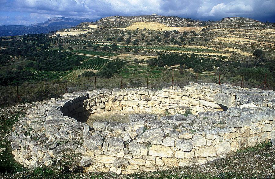 Megalithic Tomb Photograph - Kamilari Cemetery by Andonis Katanos