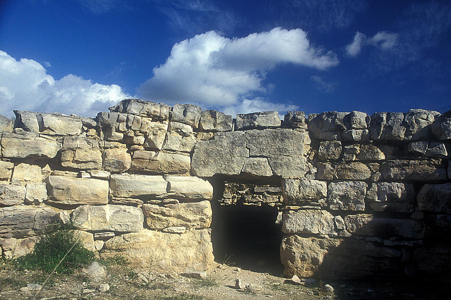 Megalithic Tomb Photograph - Kamilari Vaulted Tomb by Andonis Katanos