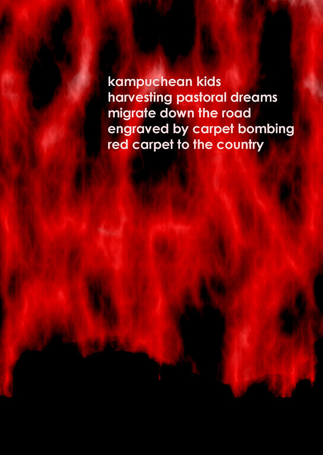 Acrostic Digital Art - Kampuchean Kids by Steve Mangan