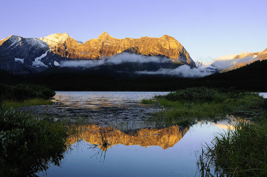 Sunrise Photograph - Kananaskis Country by Christian Heeb