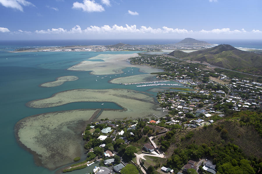 Kaneohe Bay Aerial Photograph By Peter French